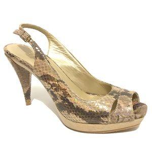 Stuart Weitzman 6 Sandals Slingback High Heel Peep